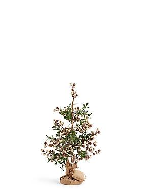 1.5Ft Gold Pre Lit Christmas Tree, , catlanding