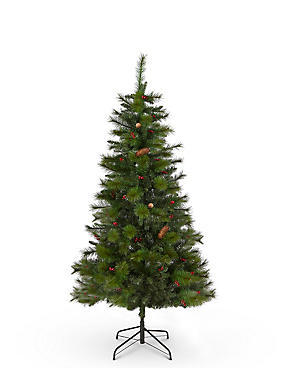 6Ft Winterberry Christmas Tree, , catlanding