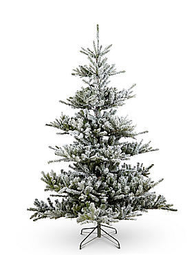 7Ft Snowy Alpine Pre Lit Christmas Tree, , catlanding