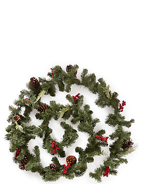 12Ft Winterberry Garland, , catlanding