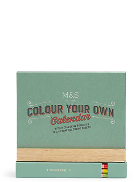 Colour Your Own Desk Calendar, , catlanding