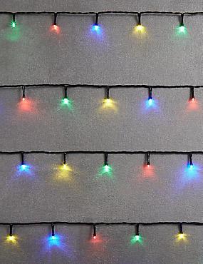 100 Multi-coloured LED Multifunction Lights, , catlanding