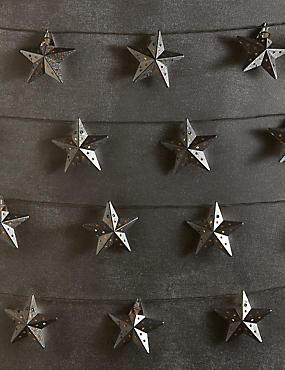 20 LED Silver Star Lights, , catlanding