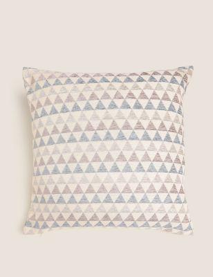 Chenille Geometric Medium Cushion