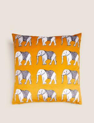 Velvet Elephant Cushion