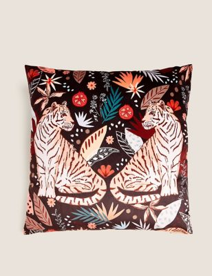 Velvet Tiger Cushion