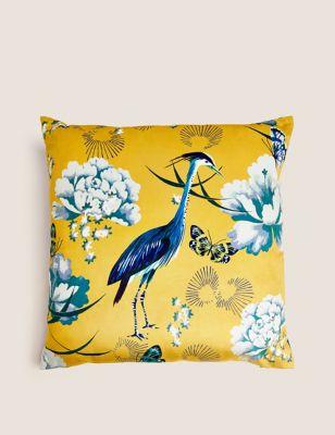Velvet Crane Cushion