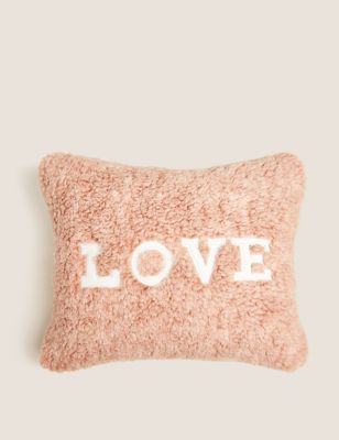 Teddy Love Slogan Mini Cushion