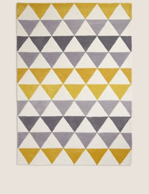 Pure Wool Triangle Patterned Rug