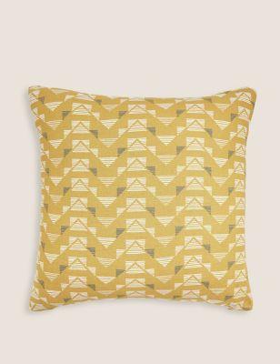 Pure Cotton Geometric Medium Cushion