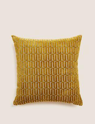 Cut Velvet Medium Jacquard Cushion