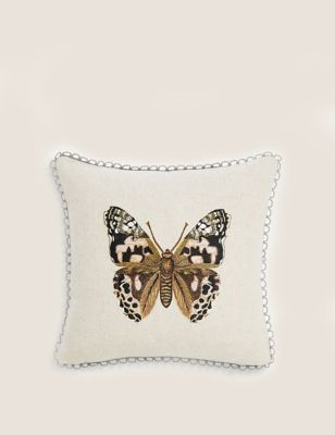 Mini Butterfly Embroidered Cushion