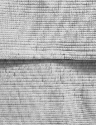 Cotton Mix Ribbed Quilted Throw