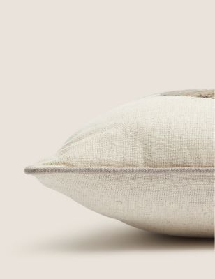 Cotton Monkey Mini Embroidered Cushion