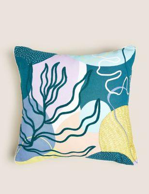 Cotton Mix Abstract Medium Cushion