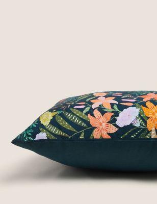 Pure Cotton Floral Medium Cushion