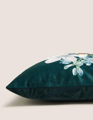Velvet Bee Medium Embroidered Cushion