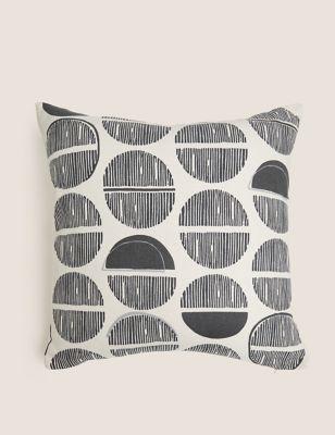 Layla Cotton Geometric Medium Cushion