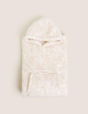 Teddy Fleece Adults' Hooded Blanket
