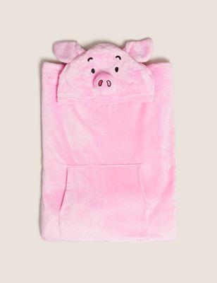 Fleece Percy Pig™ Adult Hooded Blanket