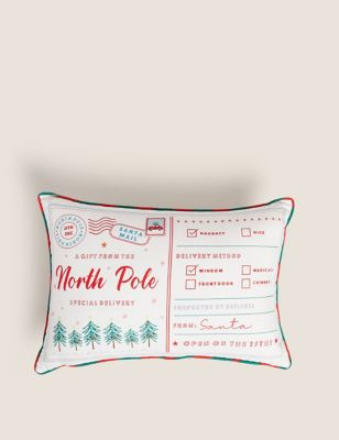 Cotton Mix Letters To Santa Bolster Cushion