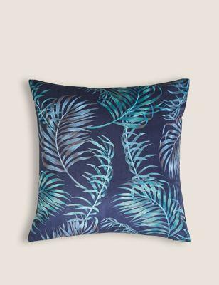 Velvet Palm Print Cushion