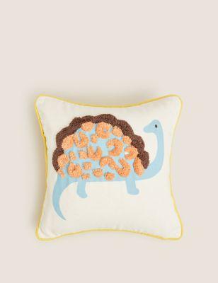 Cotton Kids Dinosaur Tufted Cushion
