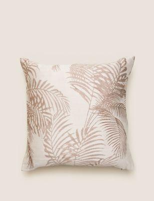 Palm Jacquard Cushion
