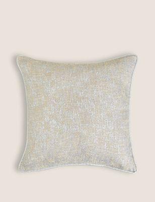 Textured Metallic Cushion