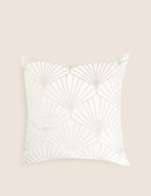 Cut Velvet Art Deco Cushion