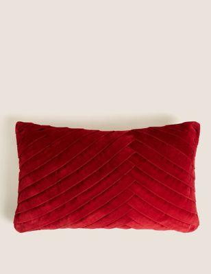 Velvet Pleated Bolster Cushion