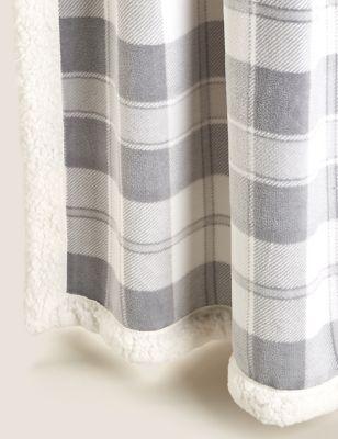 Fleece Checked Throw