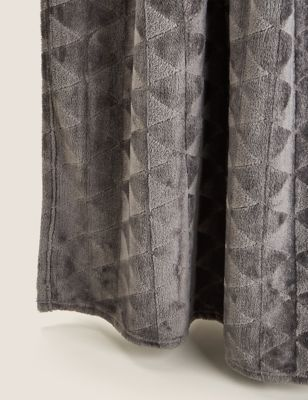 Fleece Geometric Throw