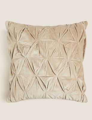 Cotton Velvet Medium Pin Tuck Cushion