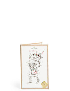 Traditional Santa Christmas Charity Cards Pack of 6, , catlanding