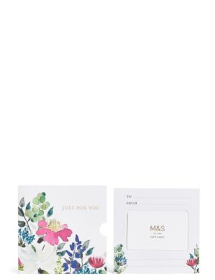 Purple Floral Gift Card