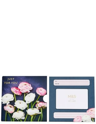 Just for You Floral Gift Card