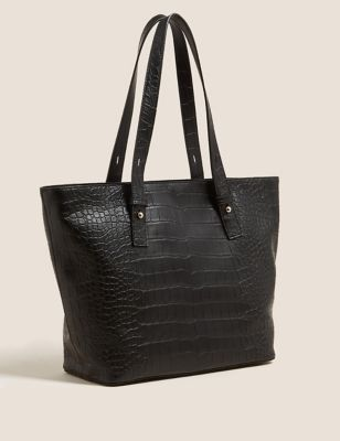 Faux Leather Tote Bag