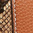 Faux Leather Drawstring Cross Body Bag - tan
