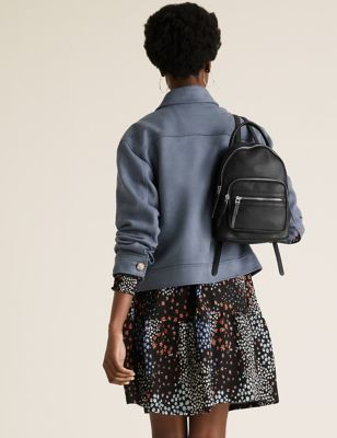 Faux Leather Mini Backpack