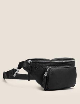 Faux Leather Zip Detail Bum Bag