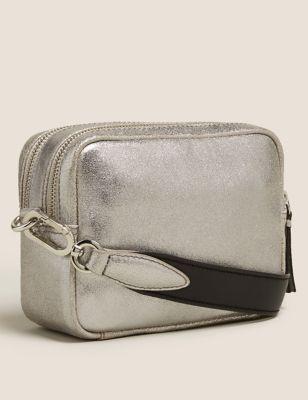 Leather Cross Body Camera Bag