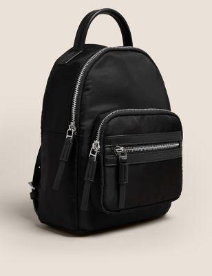 Water Resistant Zip Around Mini Backpack