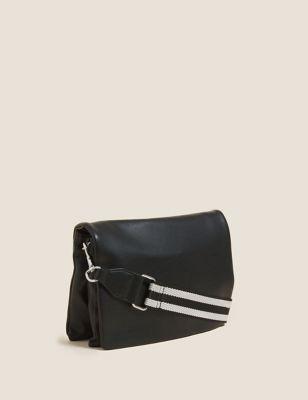 Faux Leather Messenger Cross Body Bag