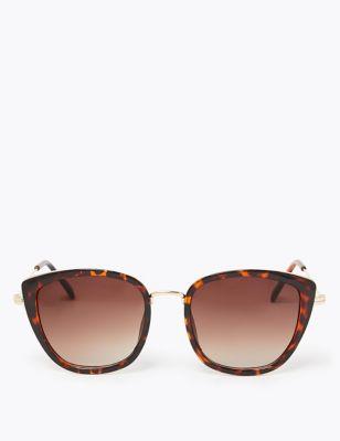 Angular Round Cat Eye Sunglasses