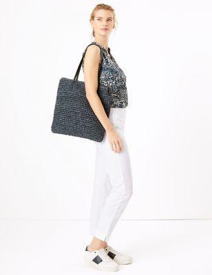 Straw Shopper Bag