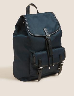 Buckle Detail Drawstring Backpack