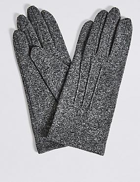Stitch Detail Gloves, GREY MIX, catlanding