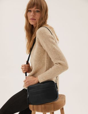 Faux Leather Cross Body Camera Bag