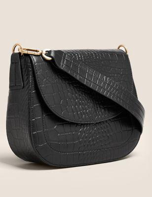 Leather Saddle Cross Body Bag